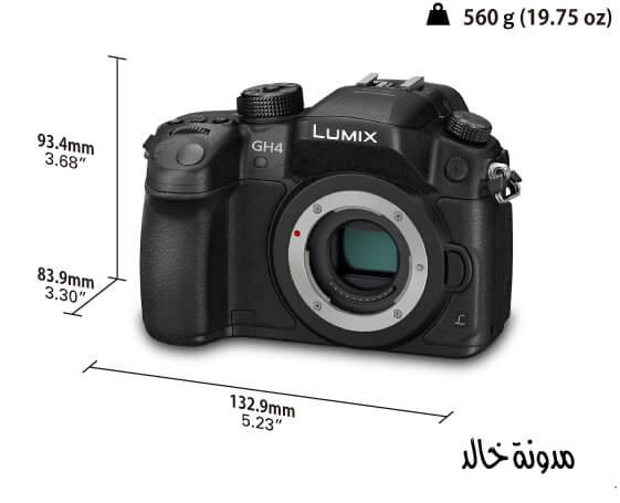 ابعاد الكاميرا وحجمها