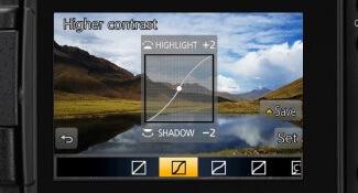 خيارات التحكم بالظلال والاضاءة